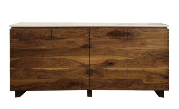 Custom Germani & Smith Solid Walnut Sideboard | red modern furniture