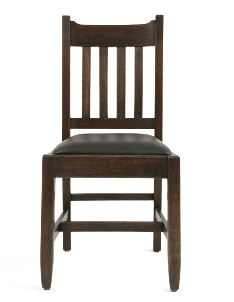 6 mission oak dining chairs red modern furniture for Contemporary oak dining chairs