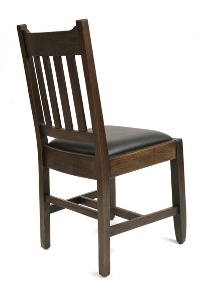 6 Mission Oak Dining Chairs Red Modern Furniture