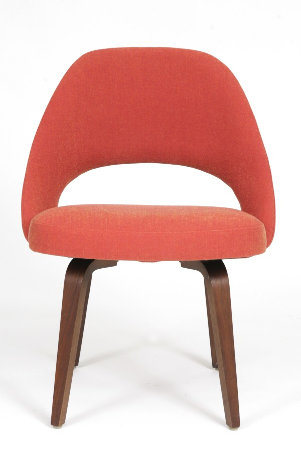 Early saarinen for knoll dining chairs red modern furniture