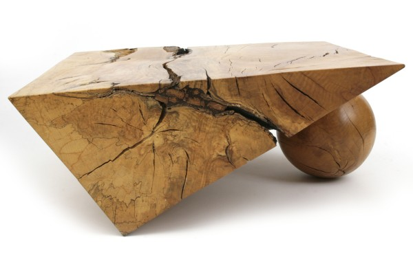 incredible spalted beech table by howard werner red