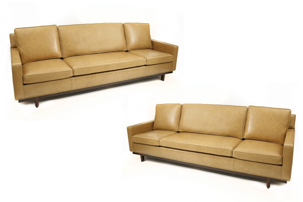 Pair of Frank Lloyd Wright for Henredon Leather Sofas