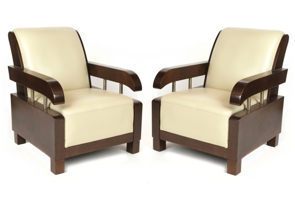 Wonderful pair of french art deco lounge chairs red modern furniture - Deco lounge eetkamer modern ...