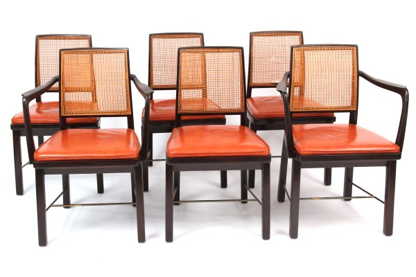 Rare Edward Wormley For Dunbar Janus Dining Chairs | Red Modern Furniture