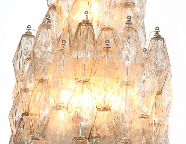 Polyhedral Chandelier By Venini Red Modern Furniture
