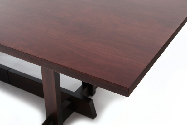custom 14 foot walnut dining table red modern furniture