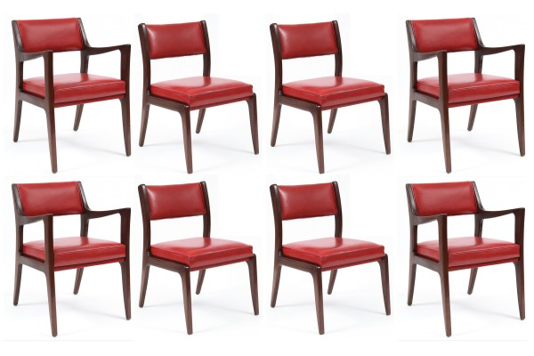 8 Harvey Probber Mahogany amp Leather Dining Chairs red  : HarveyProbberMahoganyLeatherDiningChairs1 600x400 from redmodernfurniture.com size 600 x 400 jpeg 49kB