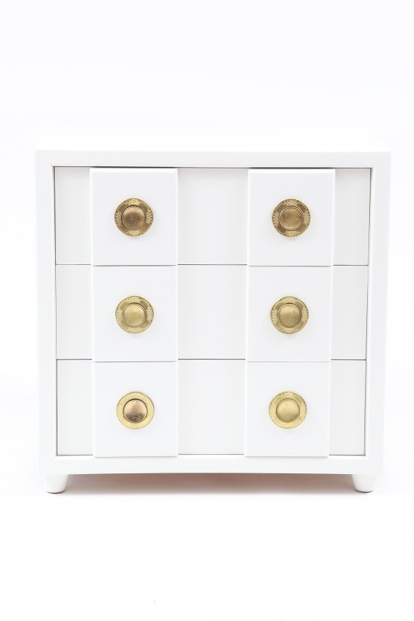 stunning white lacquer brass chest red modern furniture