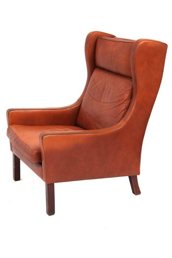 Lovely Danish Lounge Chair Ottoman Red Modern Furniture
