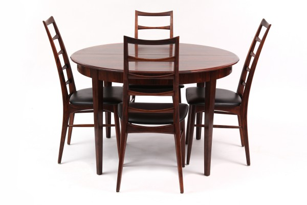 Stunning Sixties Dyrlund Rosewood Dining Table | red modern furniture