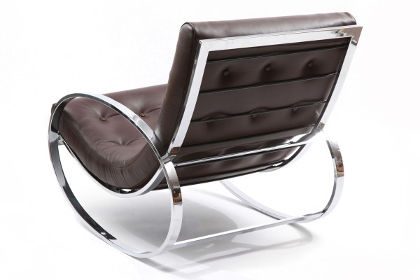 Red Leather Rocking Chair ~ Milo baughman chrome leather rocking chair red modern