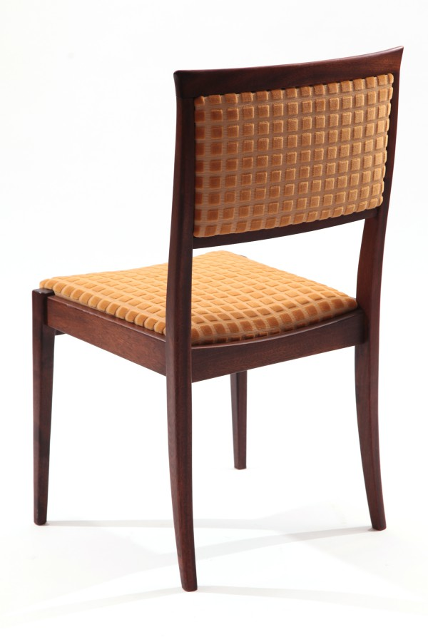 14 Tapered Mahogany Upholstered Dining Chairs Red Modern Furniture