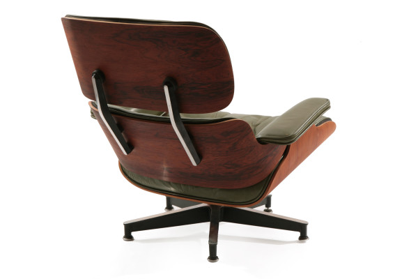 leather rosewood eames lounge chair ottoman red modern furn