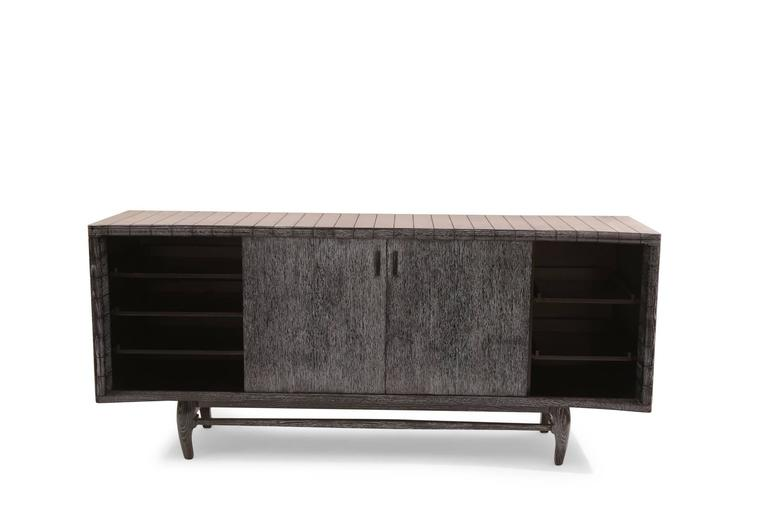 Harold Schwartz For Romweber Cerused Oak Sideboard
