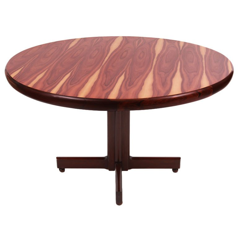 Brazilian Rosewood Dining Table By Sergio Rodrigues