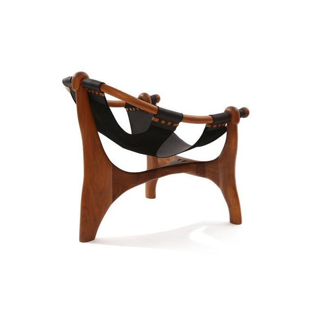 Fantastic Esther Hughes Walnut And Leather Sling Chair Uwap Interior Chair Design Uwaporg